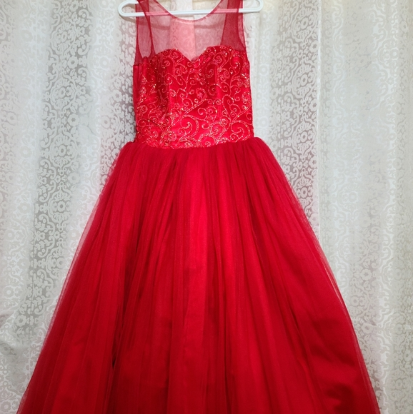 NEVER WORN Red Ball Gown